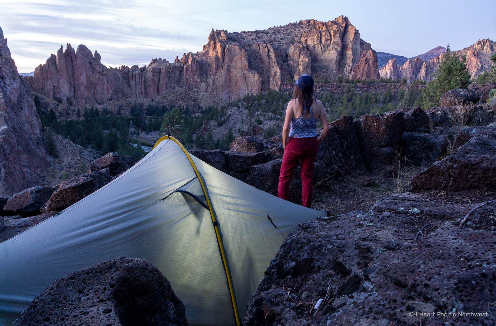 camping and hiking at Smith Rock State Park