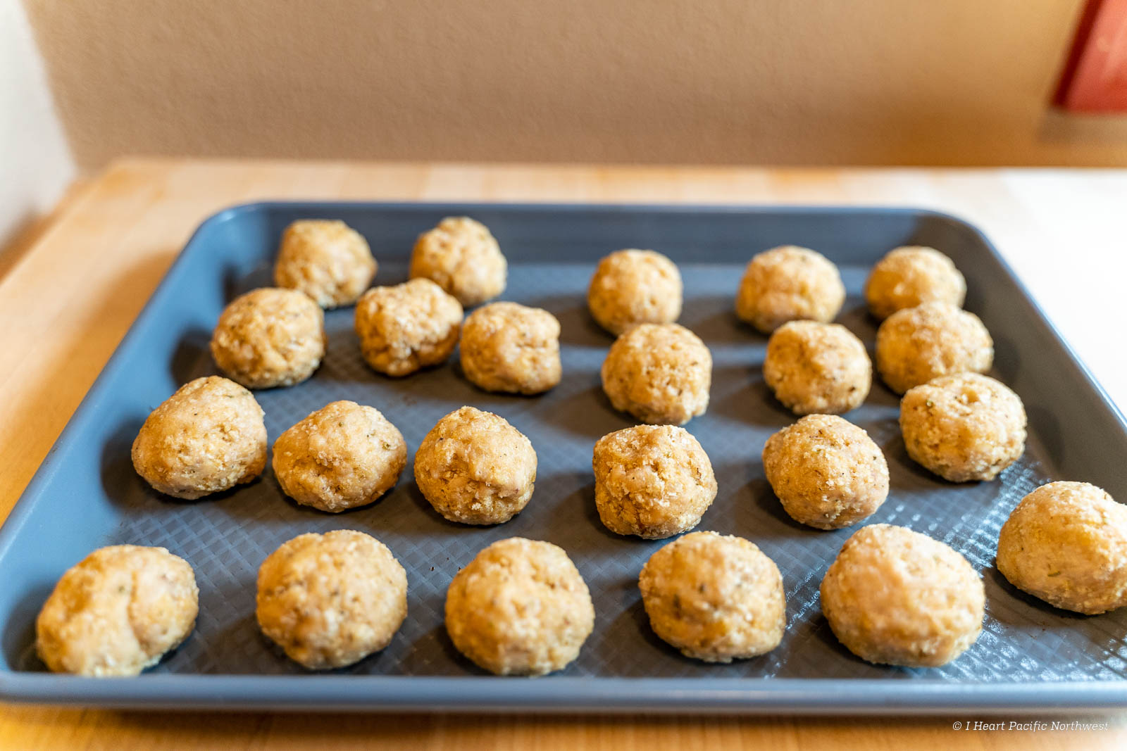 backpacking recipe - chicken meatballs