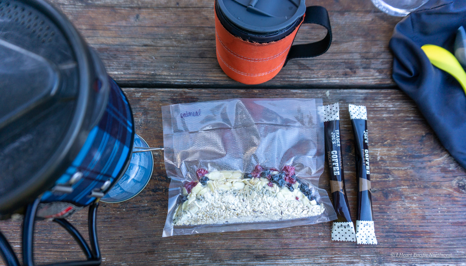 my backpacking food plan- breakfast