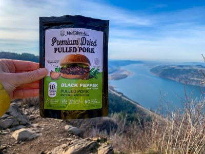 backpacking recipe: macaroni and cheese with pulled pork