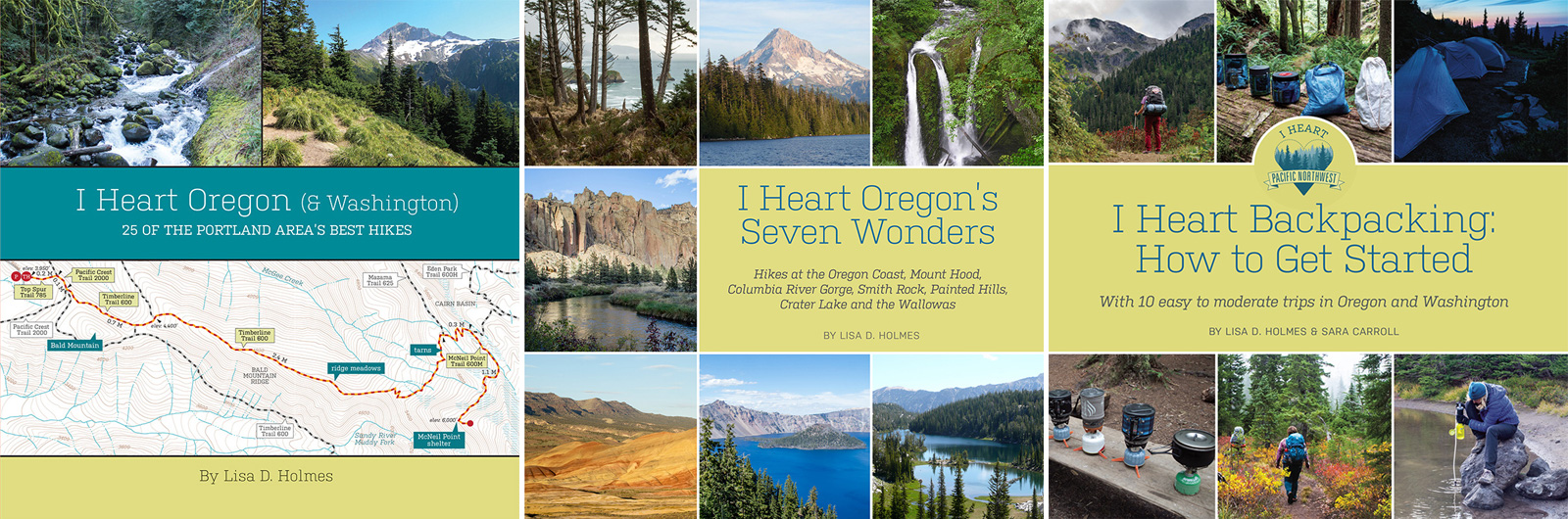 I Heart Pacific Northwest hiking books