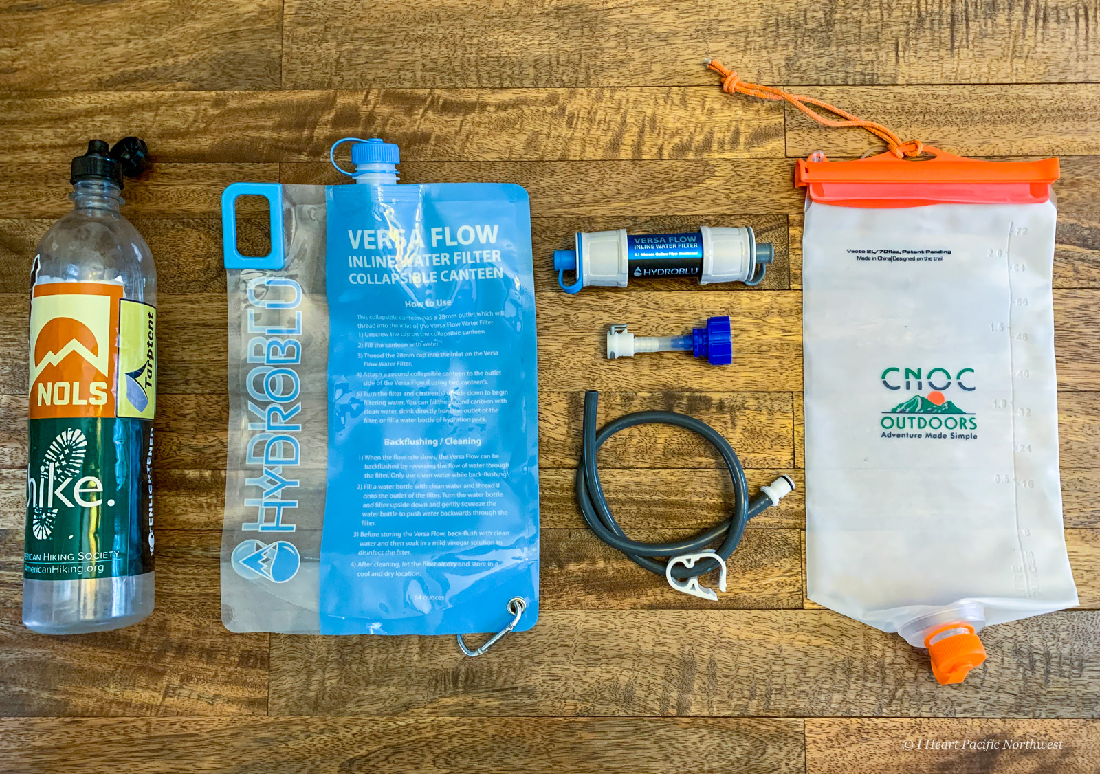 my ultralight backpacking hydration & filtering system