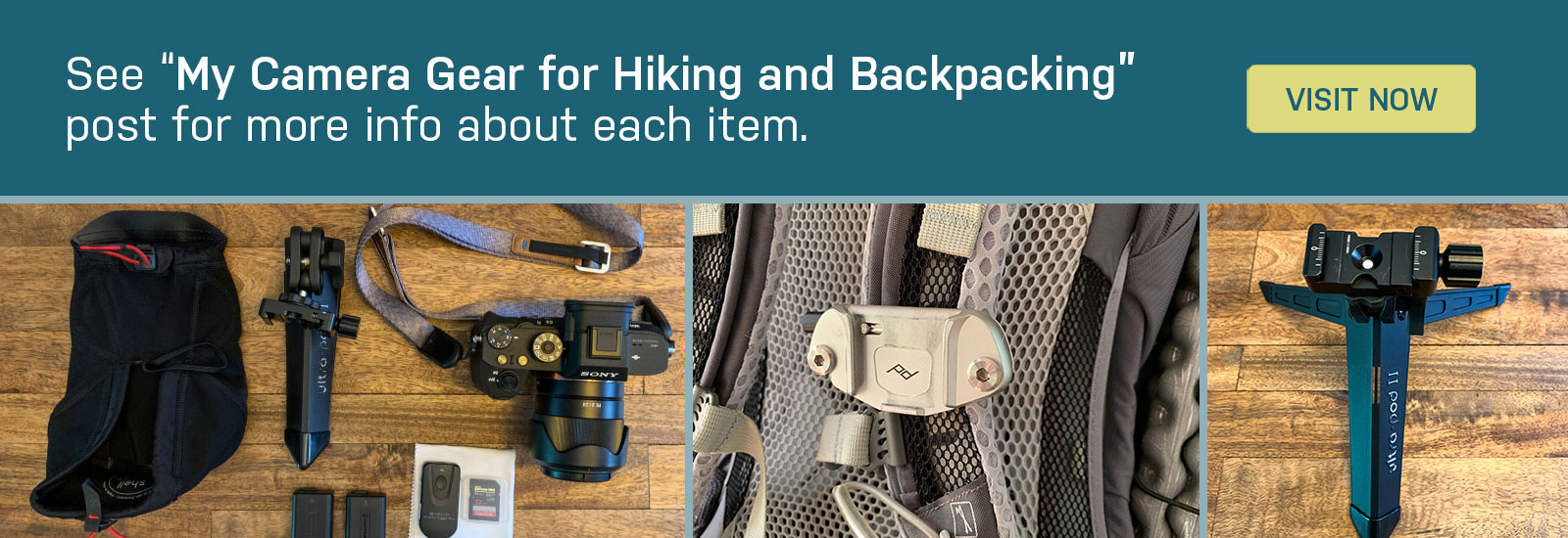 my camera gear for hiking & backpacking