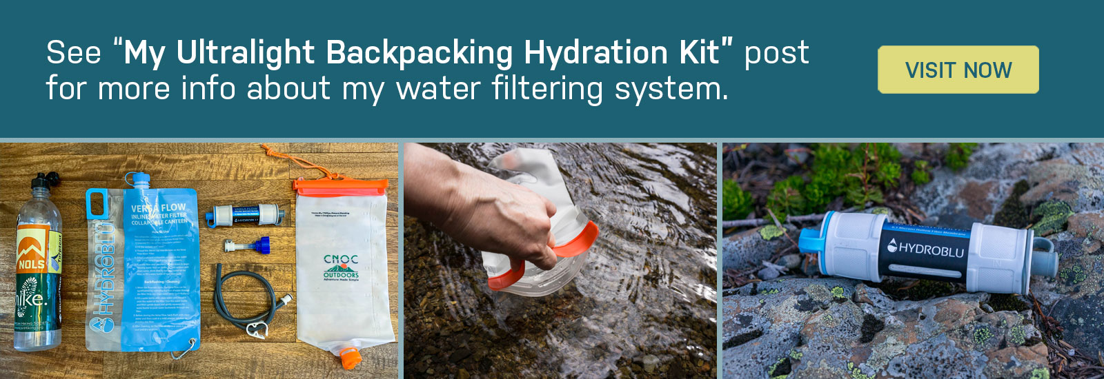 my ultralight backpacking hydration kit