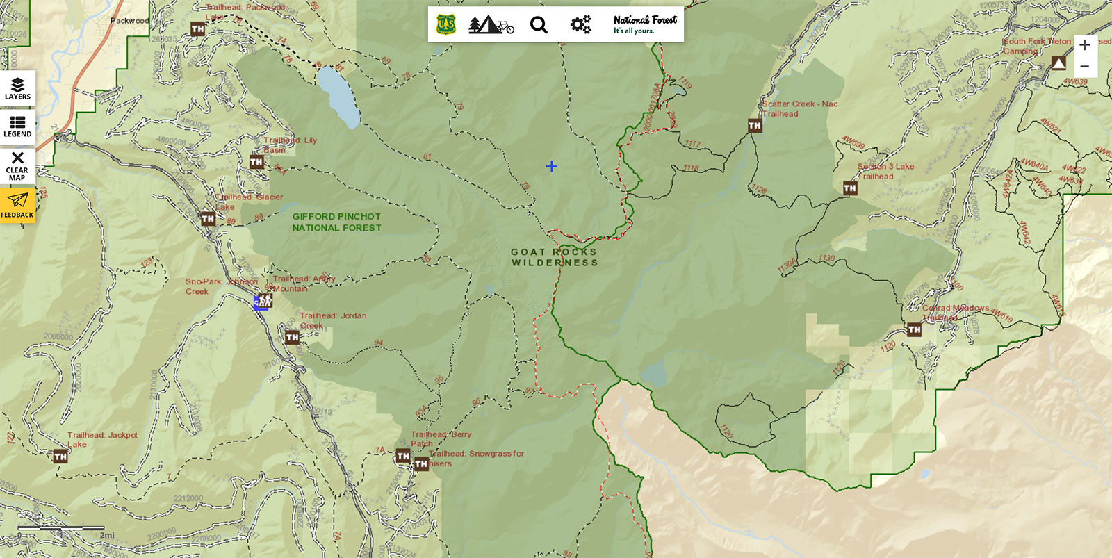 national forests interactive map