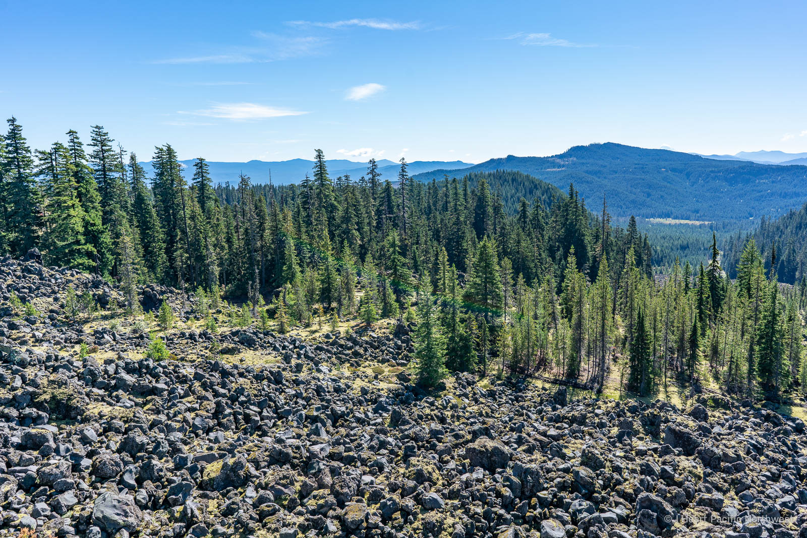 Hiking at Mount St Helens - June Lake & the Worm Flows lava fields